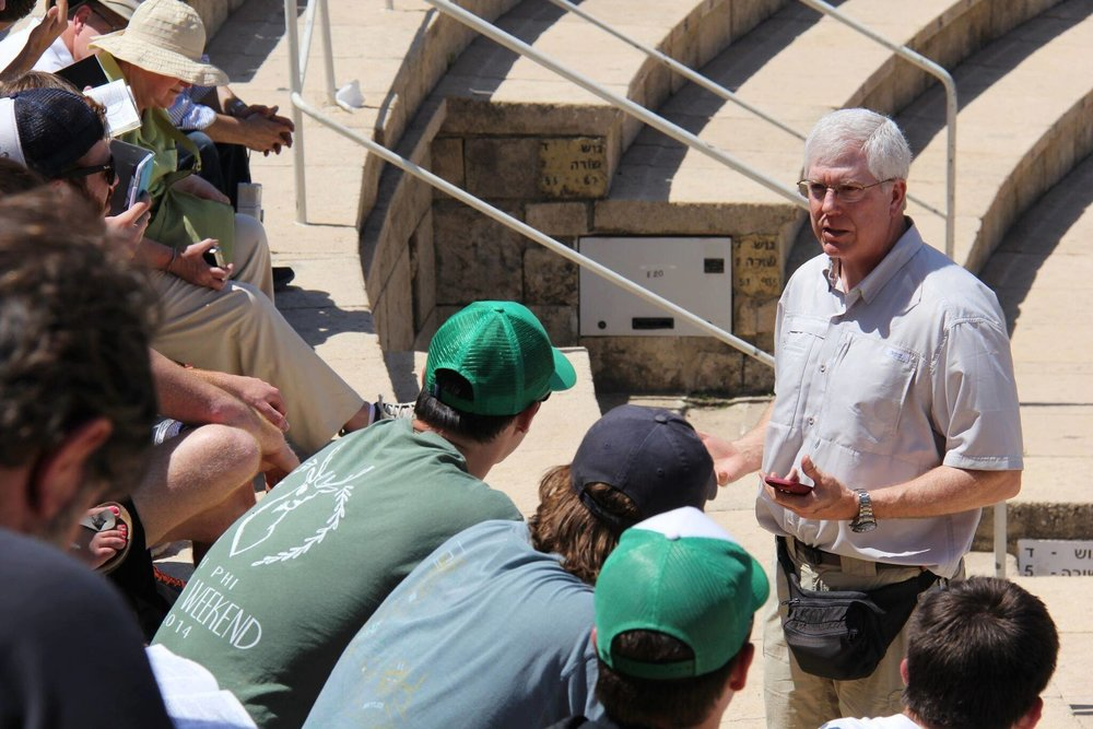 Mat Staver, founder and chairman of Liberty Counsel, speaks to Covenant Journey participants in Israel. Credit: Liberty Counsel