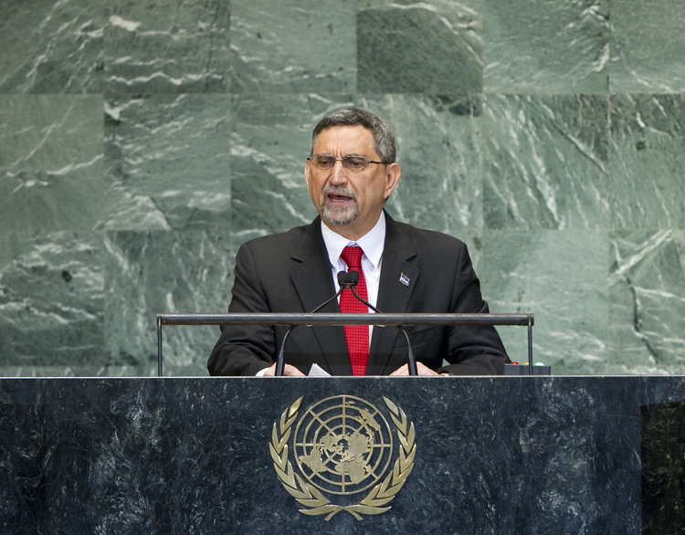 Jorge Carlos Fonseca, president of Cape Verde, addresses the general debate of the United Nations General Assembly in September 2012. Credit: U.N. Photo/J Carrier.