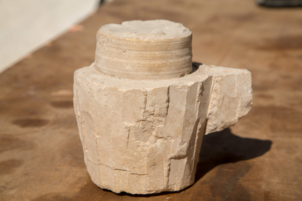 A stone vessel unearthed inside an ancient workshop in Israel's Galilee, near what is believed to be the biblical town of Cana, which is recorded in the Christian Gospels as the place where Jesus turned water into wine. Credit: Samuel Magal/Israel Antiquities Authority.