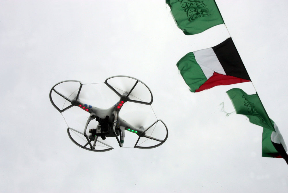 A drone camera used by the Hamas terror group in Gaza. Credit: Abed Rahim Khatib/Flash90.