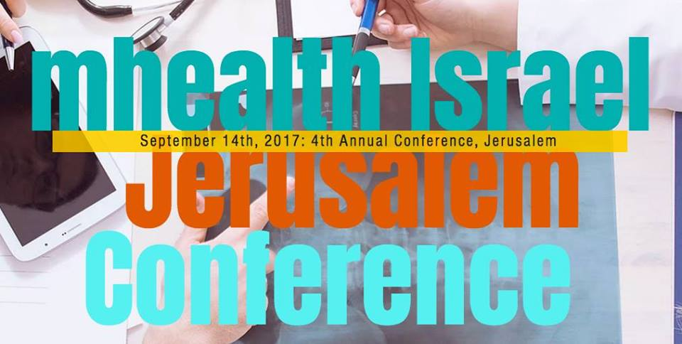 A promotional poster for the mHealth Israel Conference. Credit: mHealth Israel Conference