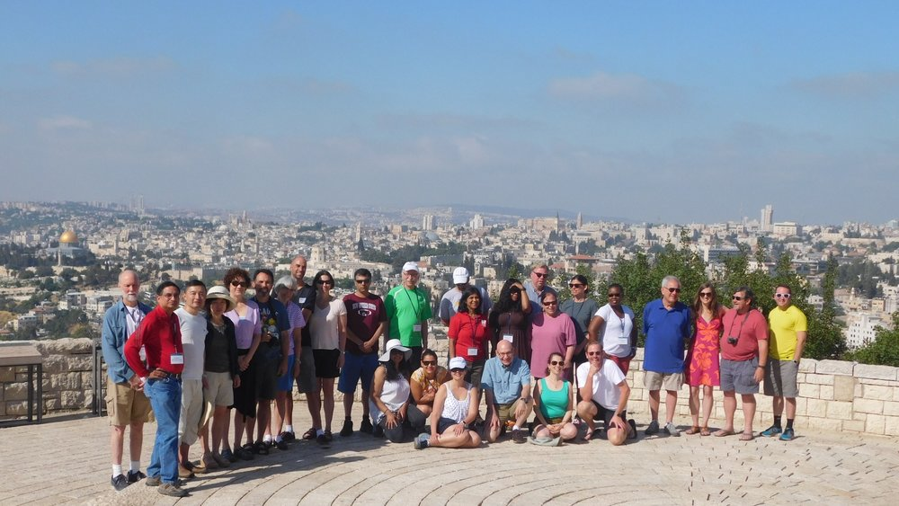 Participants of the June 2017 Faculty Fellowship Summer Institute in Israel atop the Mount of Olives in Jerusalem. Credit: JNF.