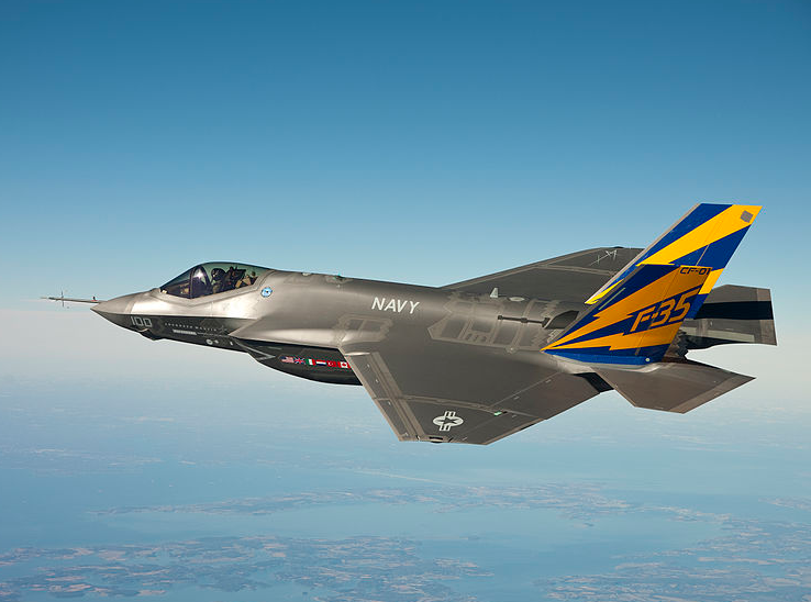 An F-35 fighter jet. Credit: Andy Wolfe via Wikimedia Commons.