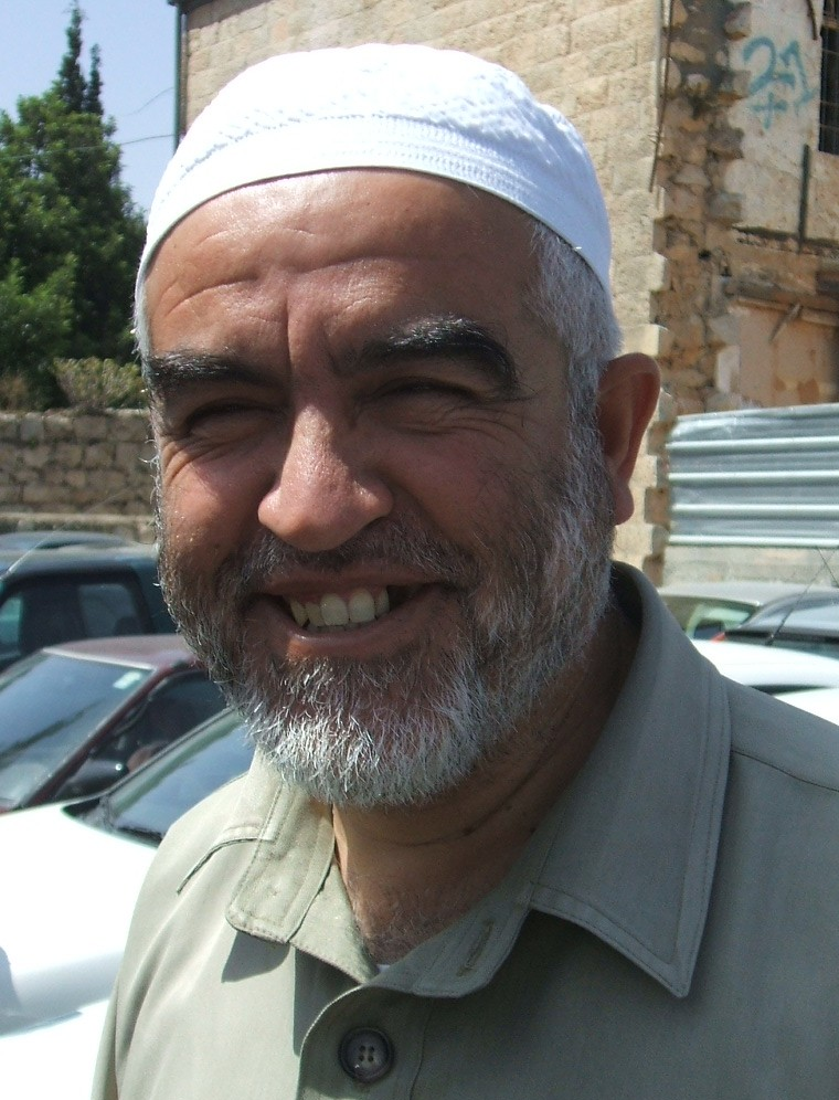 Raed Salah, a leader of the now-outlawed Northern Branch of the Islamic Movement, has been indicted again for incitement. Credit: Wikimedia Commons.