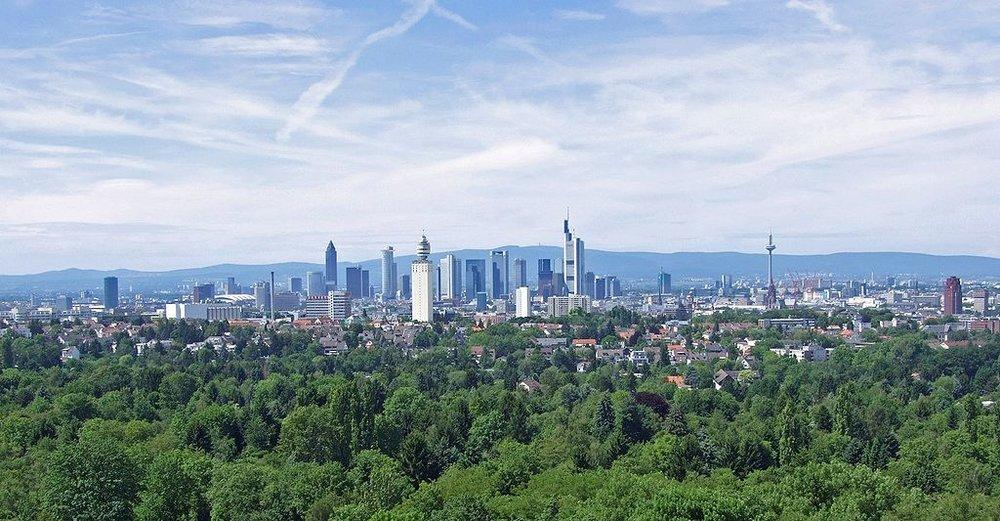 The skyline of Frankfurt, Germany. Credit: Wikimedia Commons.