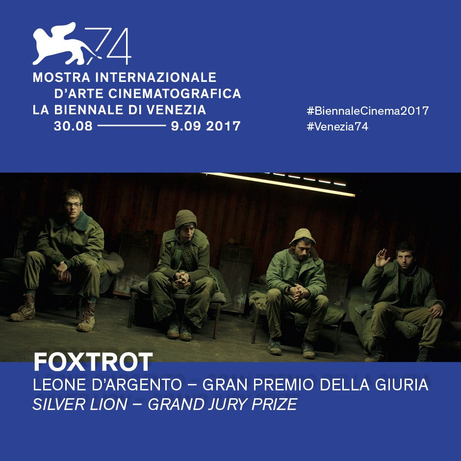 "The Israeli film ""Foxtrot"" won the Grand Jury Prize at the Venice Film Festival Sept. 9. Credit: Biennale di Venezia via Twitter."