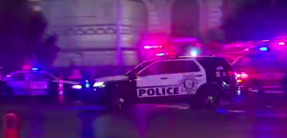 The scene after the mass shooting in Las Vegas. Credit: YouTube.