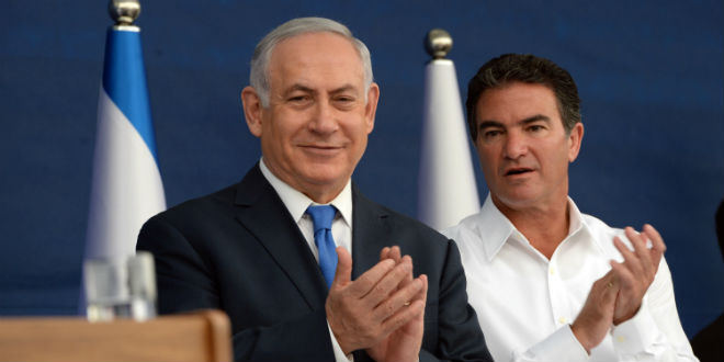Israeli Prime Minister Benjamin Netanyahu (left) with Mossad intelligence agency chief Yossi Cohen Monday. Credit: Haim Zach/GPO.