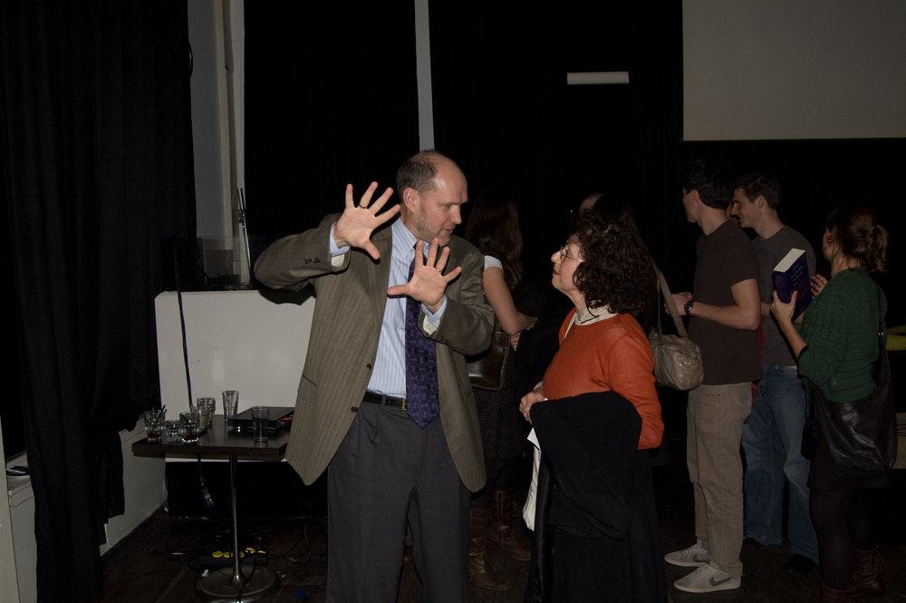 "Stephen Walt (left), co-author of ""The Israel Lobby."" Credit:Maarten via Wikimedia Commons."