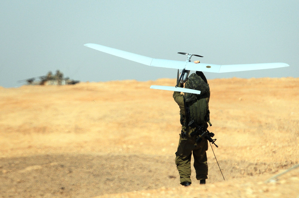 The Israeli military tests an Elbit Systems-produced unmanned aerial vehicle, the Skylark 1. Credit: IDF.
