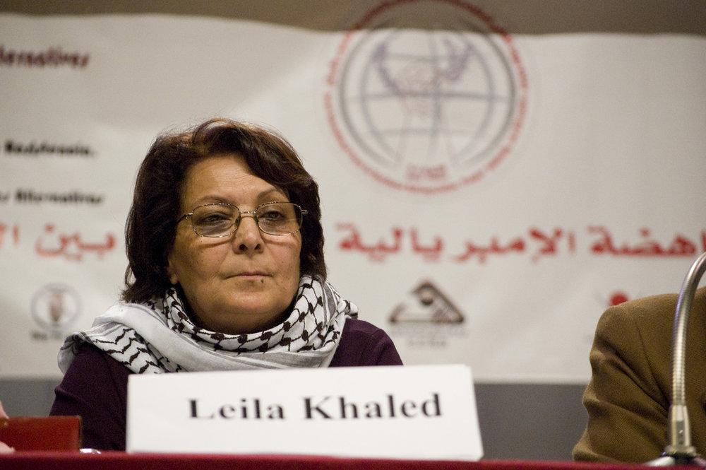 Convicted Palestinian hijacker Leila Khaled. Credit: Wikimedia Commons.