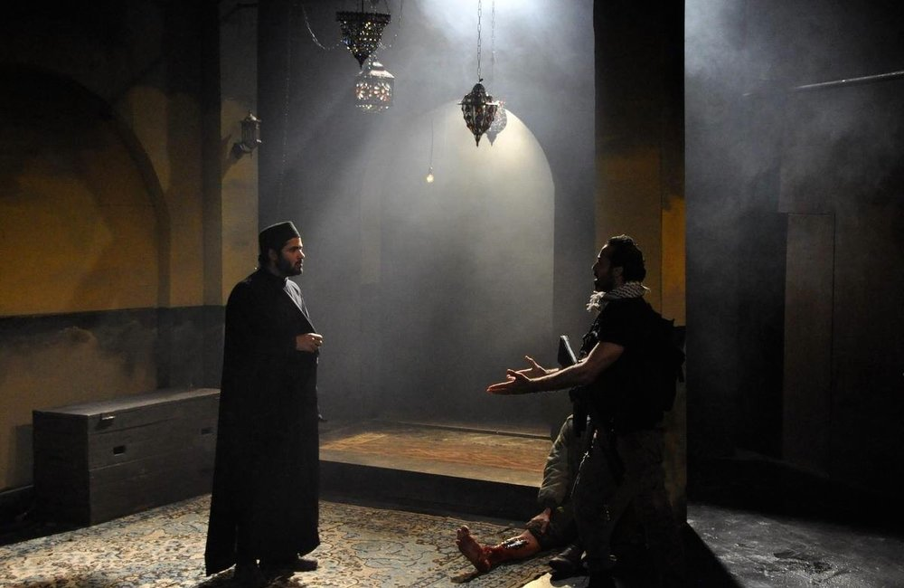 "A scene from ""The Siege,"" a play that will be hosted at the NYU Skirball Center for the Performing Arts from Oct. 12-22. Credit: Sahar Rouhana."