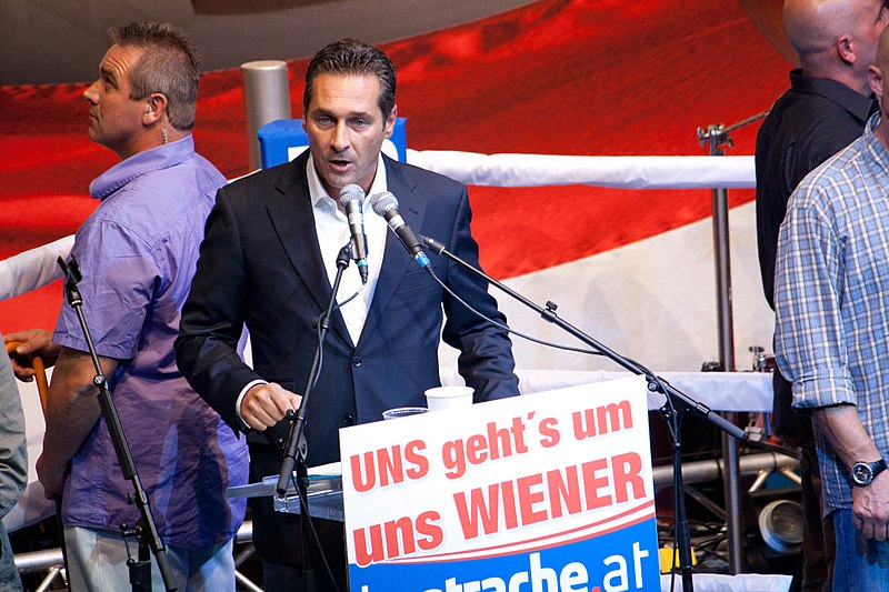Heinz-Christian Strache, leader of Austria's Freedom Party, speaks in 2010. Credit: Thomas Prenner via Wikimedia Commons.