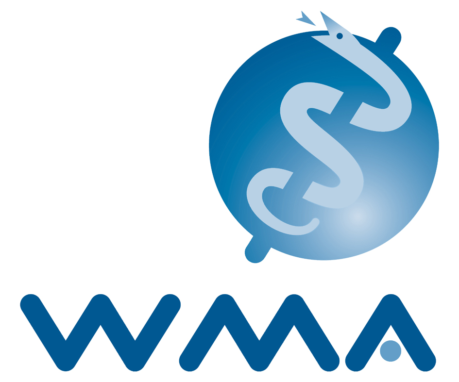 The logo for the World Medical Association. Credit: Wikimedia Commons.