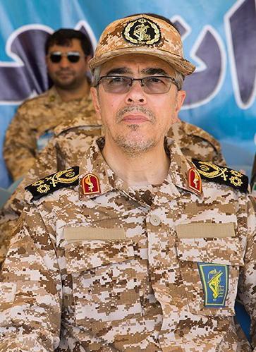 Iranian military chief Mohammad Bagheri. Credit:Tasnim News Agency via Wikimedia Commons.