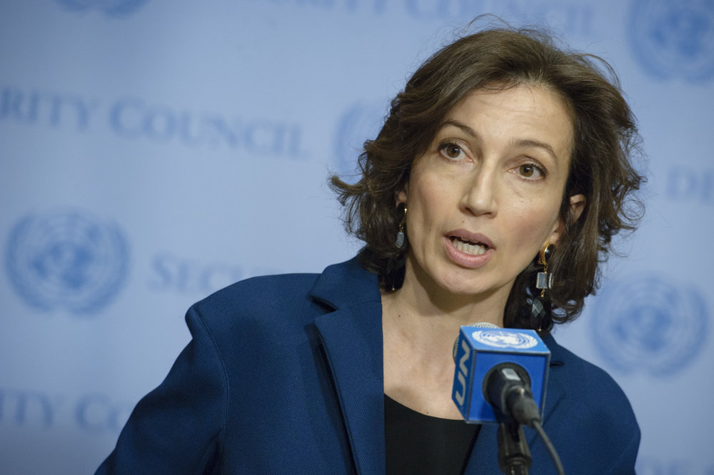 Former French Minister of Culture Audrey Azoulay, UNESCO's newly elected director-general. Credit: U.N. Photo/Manuel Elias.