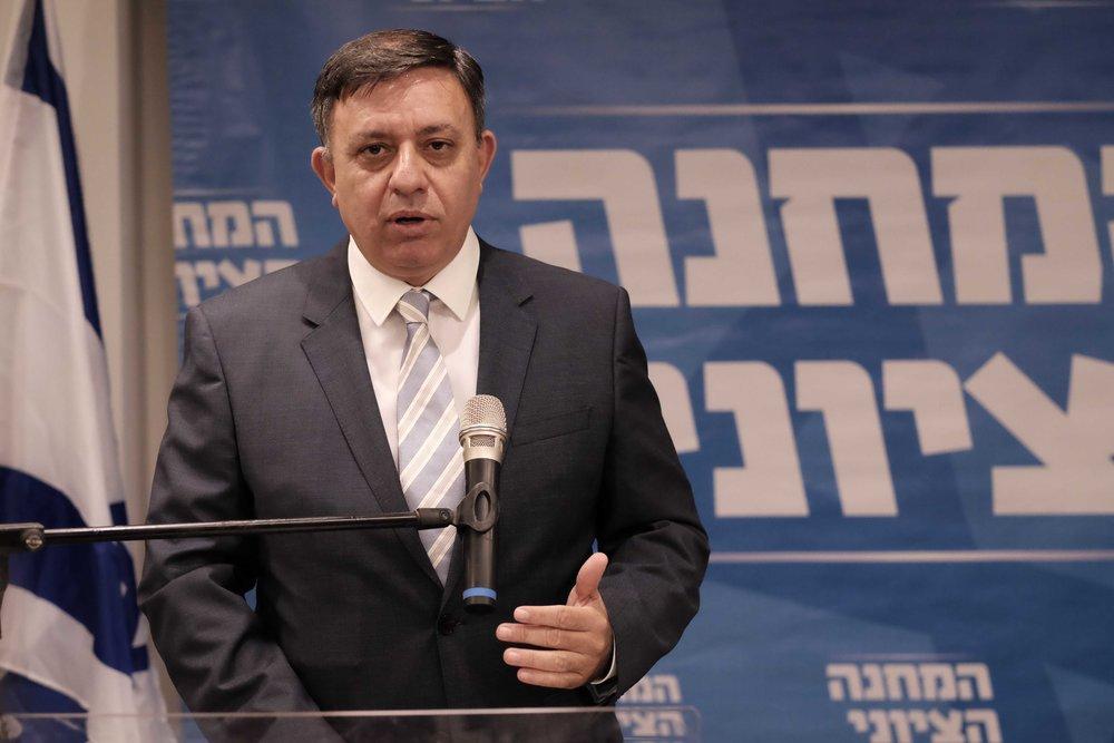Israeli Labor party leader Avi Gabbay speaks during a press conference in Tel Aviv, Oct. 1, 2017. Credit: Tomer Neuberg/Flash90.