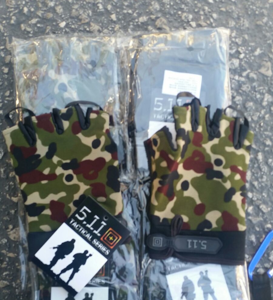 Gaza-bound tactical military gloves that were seized by Israel. Credit: Ministry of Defense Spokesperson.