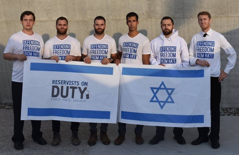 Representatives of pro-Israel group Reservists on Duty (RoD). Credit: RoD.