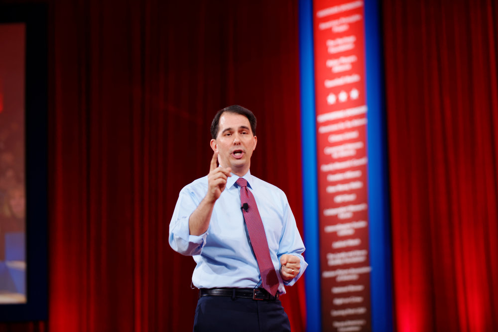 Wisconsin Governor Scott Walker. Credit: Michael Vadon via Wikimedia Commons.