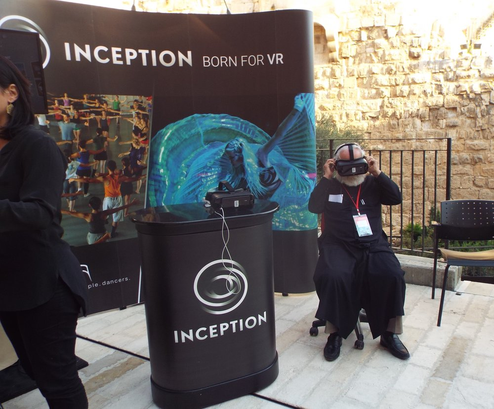 Inception VR's virtual reality experience at Jerusalem's Tower of David Museum. Credit: Judy Lash Balint.