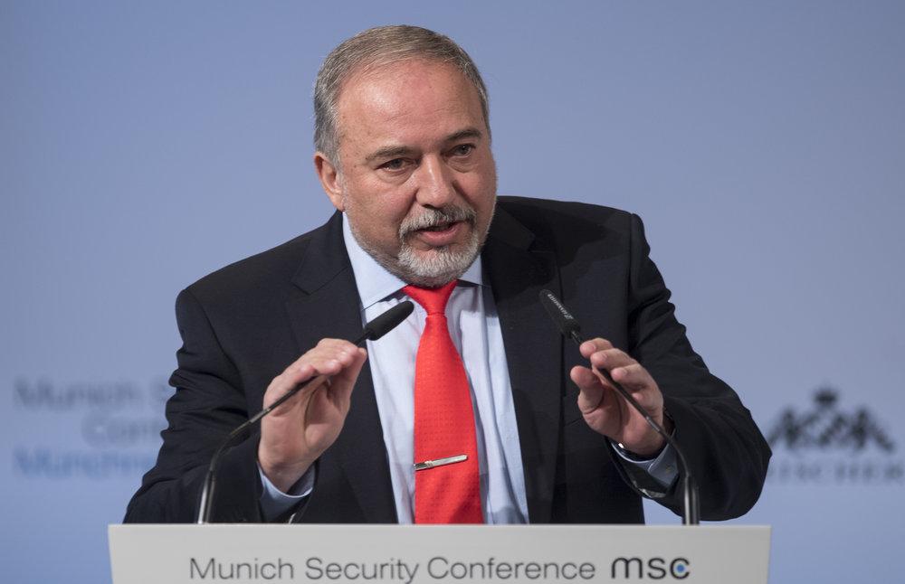Israeli Defense Minister Avigdor Lieberman. Credit:Preiss/MSC via Wikimedia Commons.