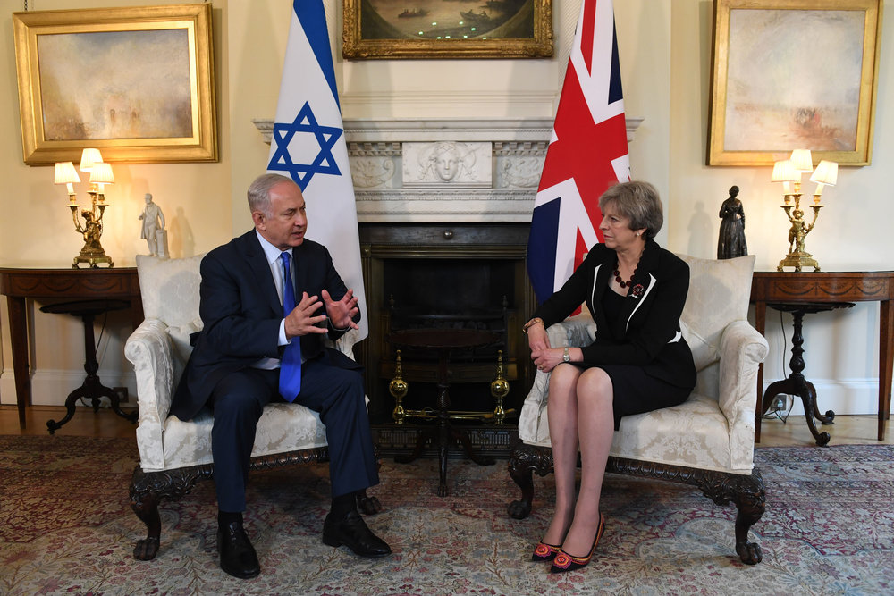 Israeli Prime Minister Benjamin Netanyahu and British Prime Minister Theresa May meet in London on Thursday. Credit: Kobi Gideon/GPO.