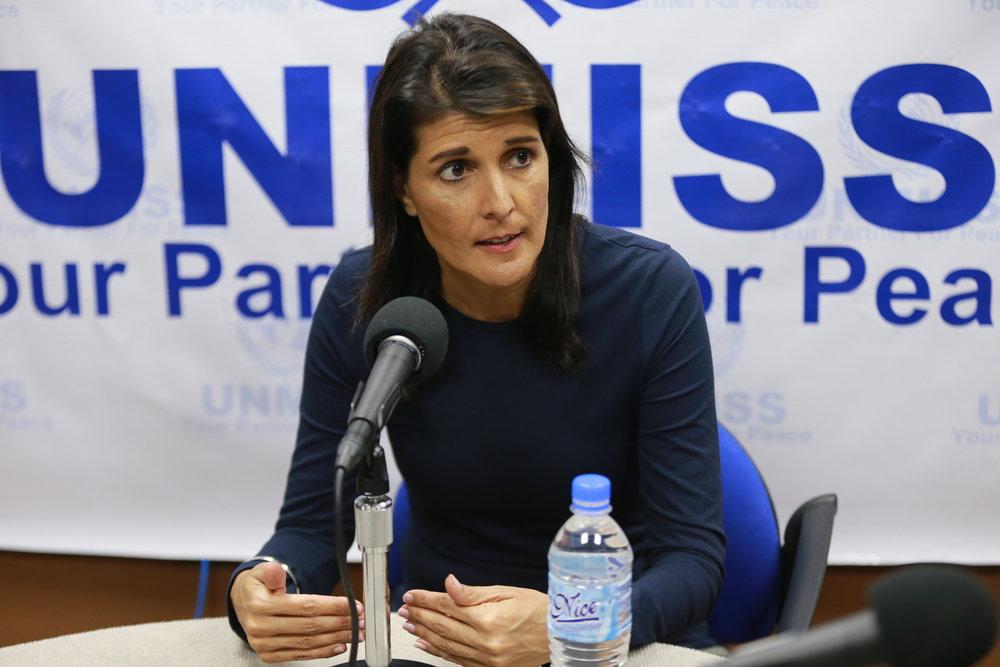 U.S. Ambassador to the U.N. Nikki Haley. Credit:U.N. Photo/Nektarios Markogiannis.
