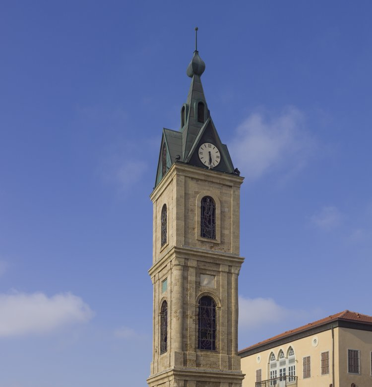 "In July, the Greek Orthodox Patriarchate sold a 99-year lease on prime real estate near Jaffa's iconic clock tower (pictured) to a company called ""Clock Quarter"" for $1.5 million. Credit: Andrew Shiva via Wikimedia Commons."