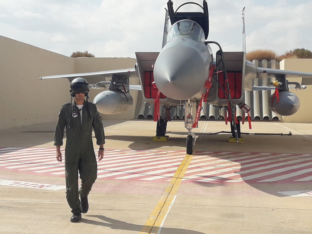 Capt. B, a 26-year-old F-15 pilot in the Israeli Air Force who recently took part in Blue Flag, Israel's largest-ever international aerial exercise. Credit: Yaakov Lappin.