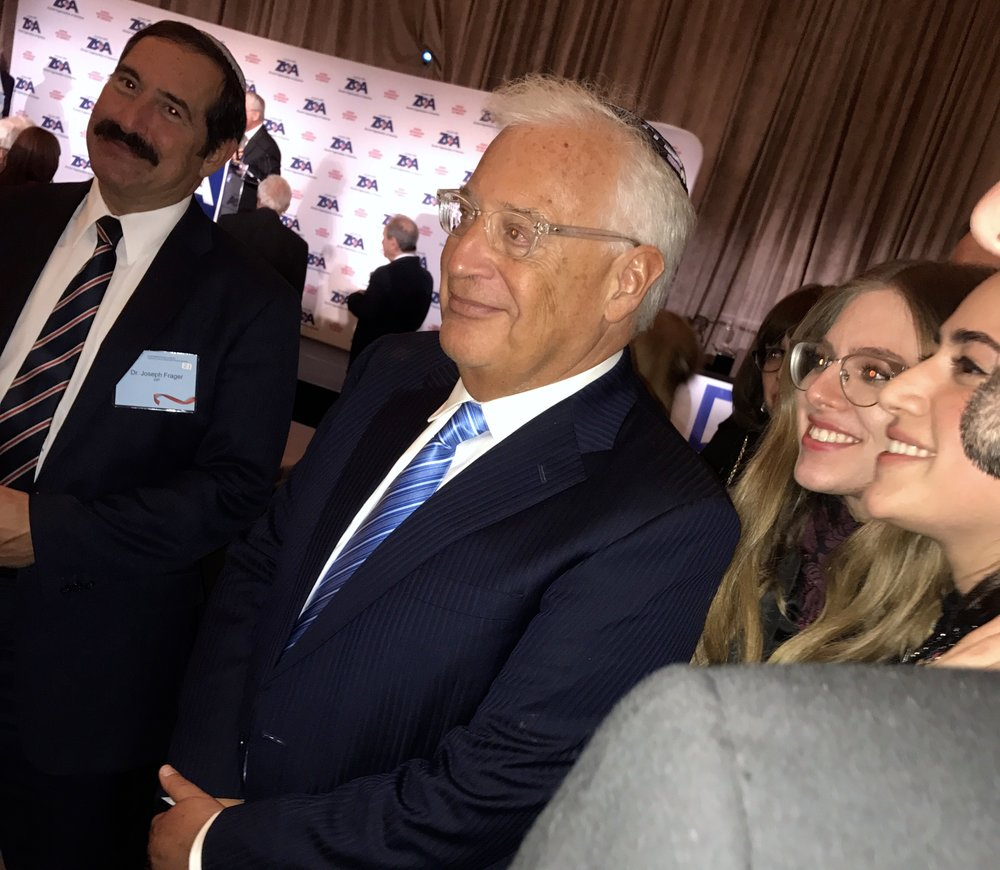 U.S. Ambassador to Israel David Friedman (center) attends the Zionist Organization of America's annual awards dinner. Credit: Shiryn Solny.