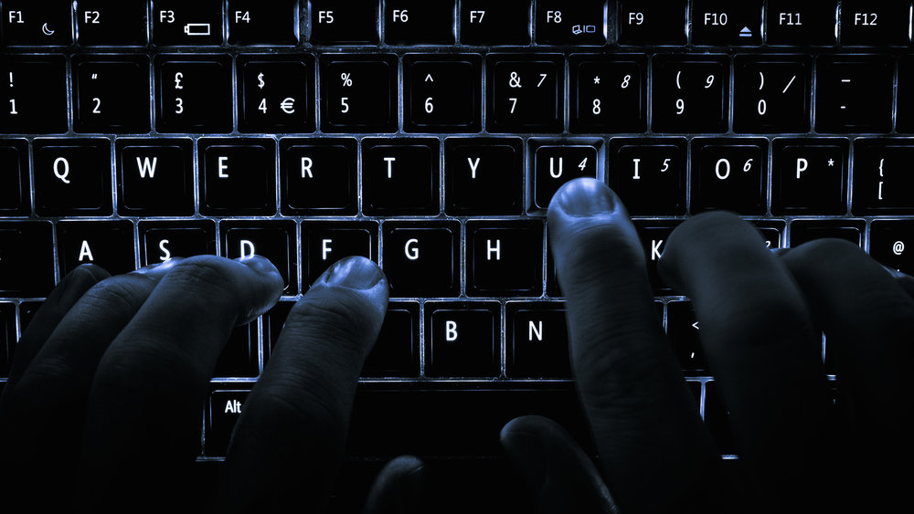 Typing on a computer keyboard. Credit: Wikimedia Commons.