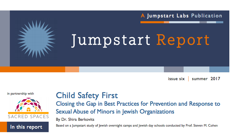 "The cover page of Jumpstart's ""Child Safety First"" report. Credit: Jumpstart."