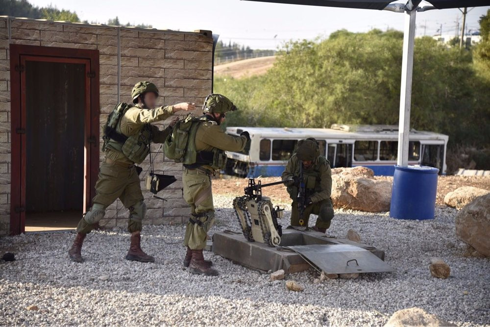 An IDF unit demonstrates counter-terrorist warfare techniques for visitors from NATO countries earlier this month. Credit: IDF Spokesperson's Unit.