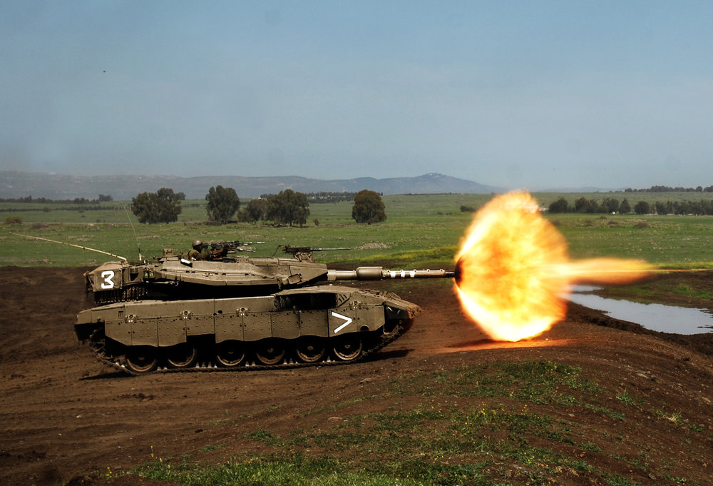 An Israeli tank during a training day in the Golan Heights. Credit: IDF.
