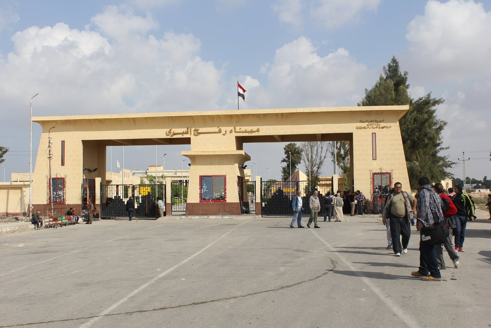 The Rafah border crossing between Egypt and Gaza. Credit: Wikimedia Commons.