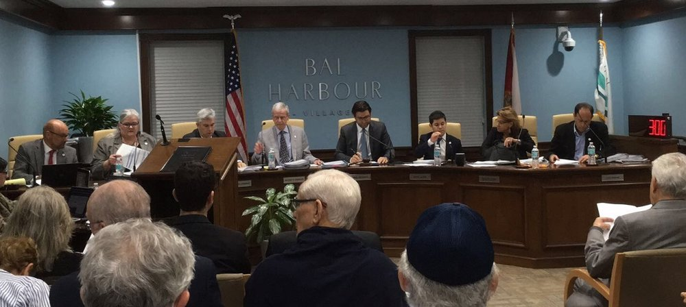 The Village Council of Bal Harbour, Fla., meets on Nov. 21, when the council adopted the State Department's definition of anti-Semitism. Credit: Village of Bal Harbour.