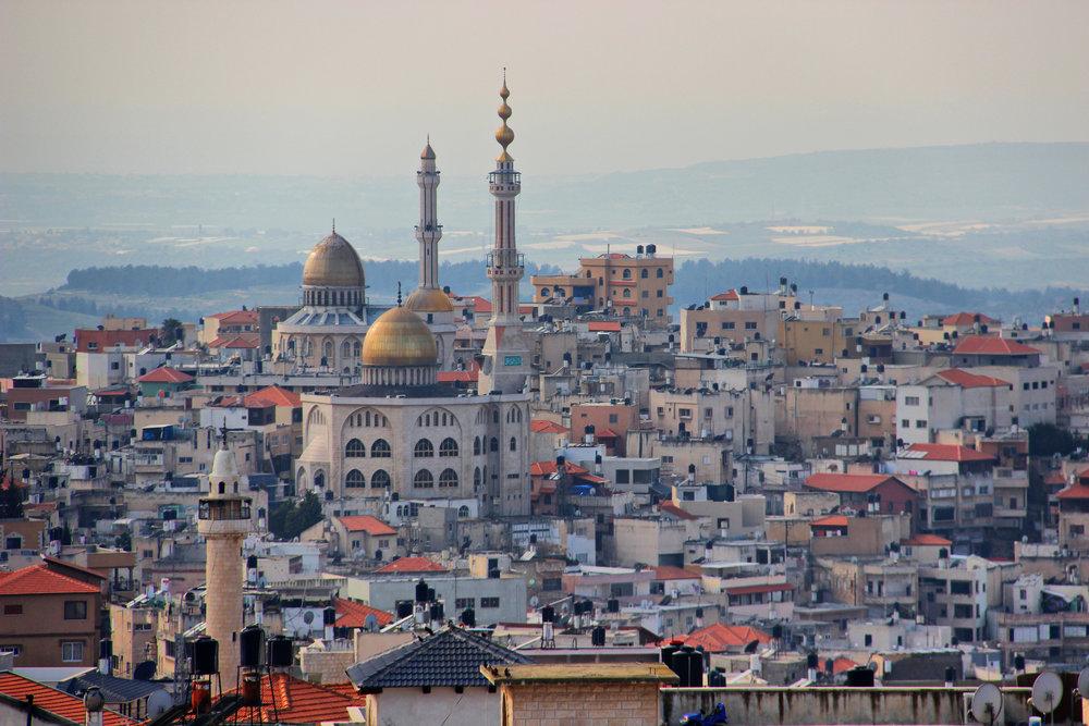 Umm al-Fahm, the third-largest Arab city in Israel. Credit: Wikimedia Commons.