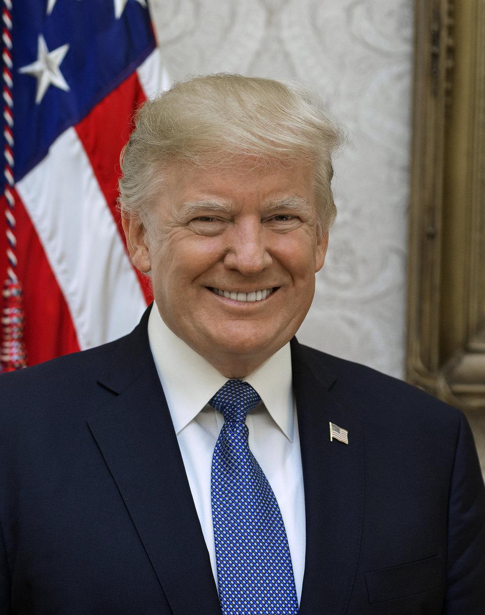 President Donald Trump. Credit:Shealah Craighead/White House.