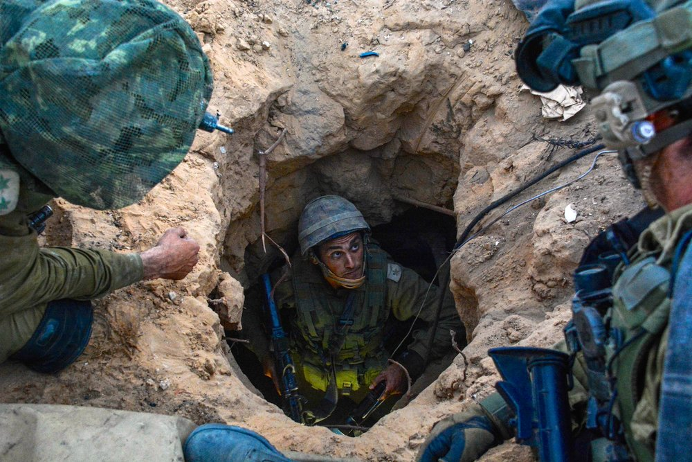 IDF soldiers work to discover and dismantle Hamas's terror tunnels in the Gaza Strip in July 2014. Credit: IDF.