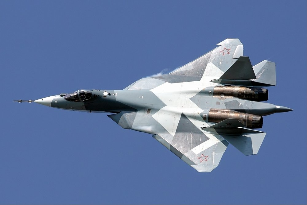 A Russian Sukhoi T-50 fighter jet. Credit: Maxim Maksimov via Wikimedia Commons.