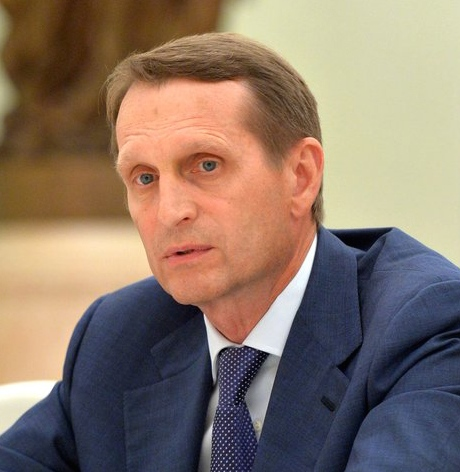 Sergey Naryshkin, head of Russia's Foreign Intelligence Service. Credit: Kremlin.ru via Wikimedia Commons.