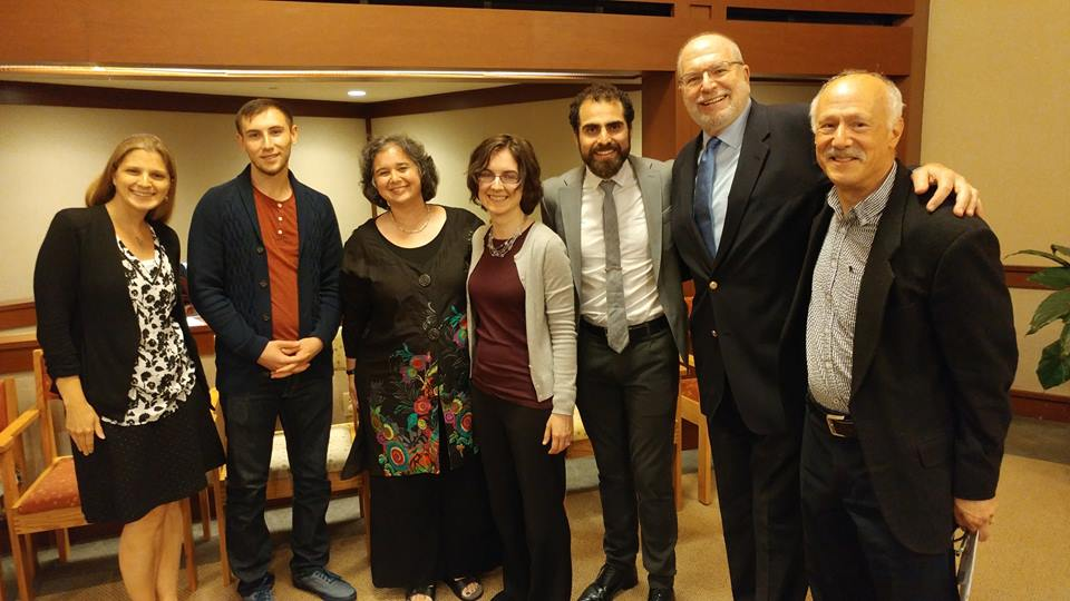 The Muslim guests of Temple Isaiah's Rabbi Howard Jaffe (second from right) in July included Nadeem Mazen (third from right),New England director of the Hamas-connected Council on American-Islamic Relations. Credit: Facebook.