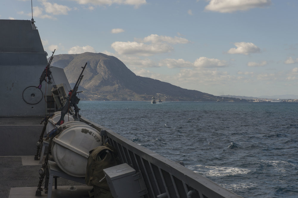 The view on board an Israeli Navy ship that took part in a NATO exercise hosted by the Greek Hellenic Navy in November. Credit: IDF Spokesperson's Unit.