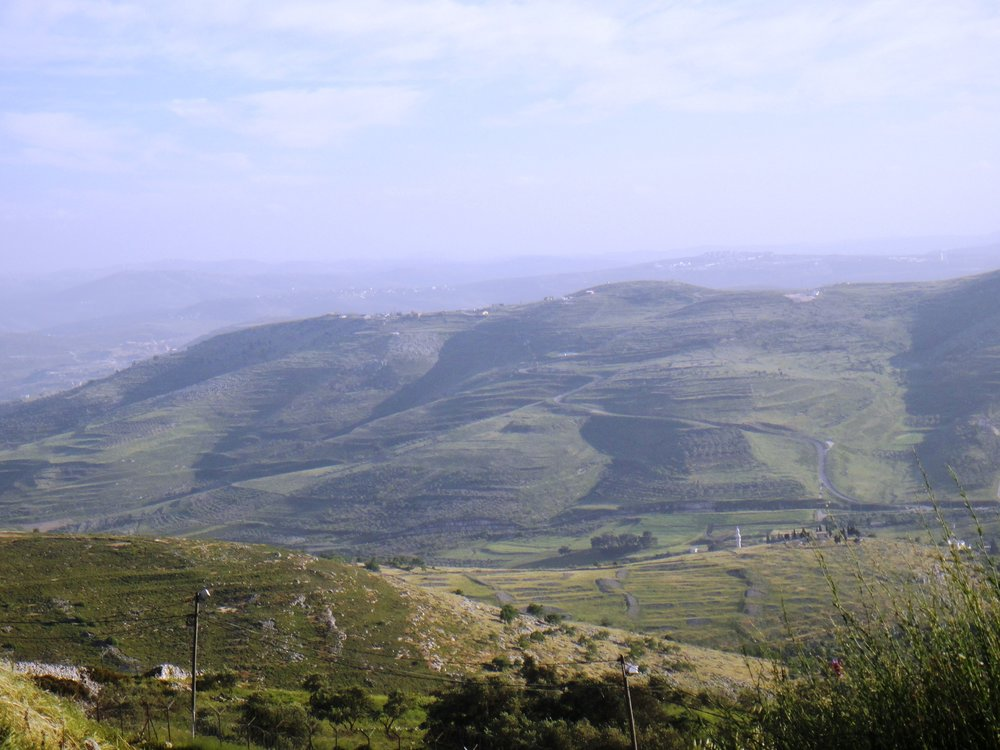 The hills of Samaria. Credit: Wikimedia Commons.