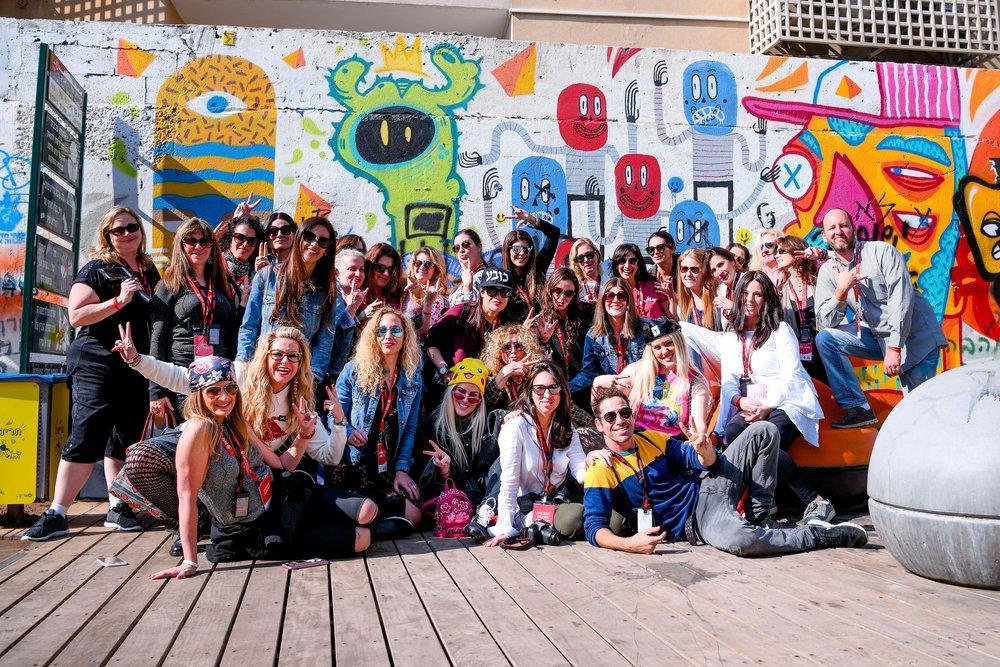 "Participants of the Jewish Women's Renaissance Project's ""Media Magnets"" trip to Israel. Credit: Aviram Valdman."