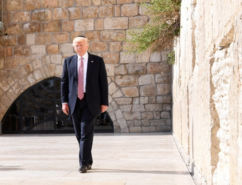 President Donald Trump visits Jerusalem's Western Wall on May 22, 2017. Credit: Matty Stern/U.S. Embassy Tel Aviv.