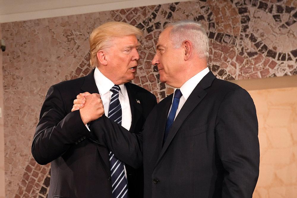 President Donald Trump and Prime Minister Benjamin Netanyahu at the Israel Museum in Jerusalem on May 23, 2017. Credit:U.S. Embassy Tel Aviv.
