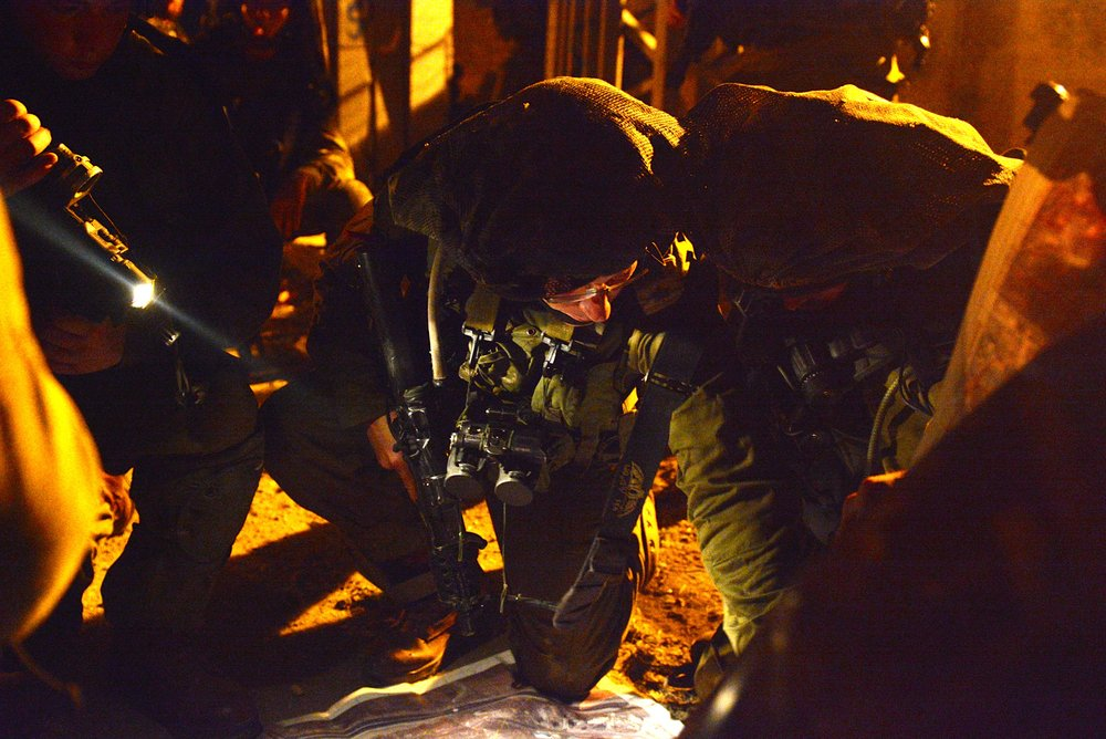 IDF soldiers during an overnight operation in Judea and Samaria. (Illustrative.) Credit: IDF.