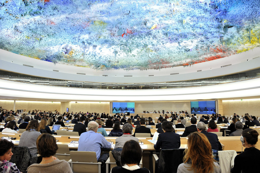 The 2010 international Human Rights Day event inside the United Nations Human Rights Council chamber in Geneva. Credit: U.N. Photo/Jean-Marc Ferré.